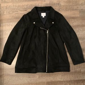 EUC Sueded Knit Moto Jacket from Old Navy